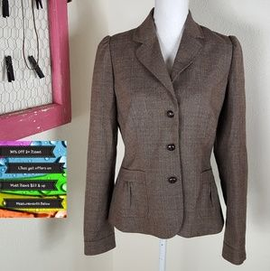 🆕️ Banana Republic Satin Lined Tweed Blazer